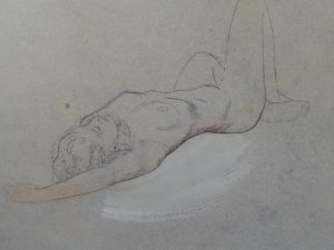 Female Nude With Right Knee Raised