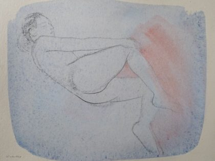 Female Nude With Pink