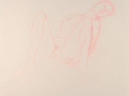Seated Female Nude With Knees Raised