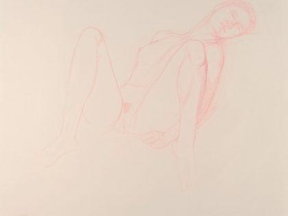 Seated Female Nude With Knees Raised