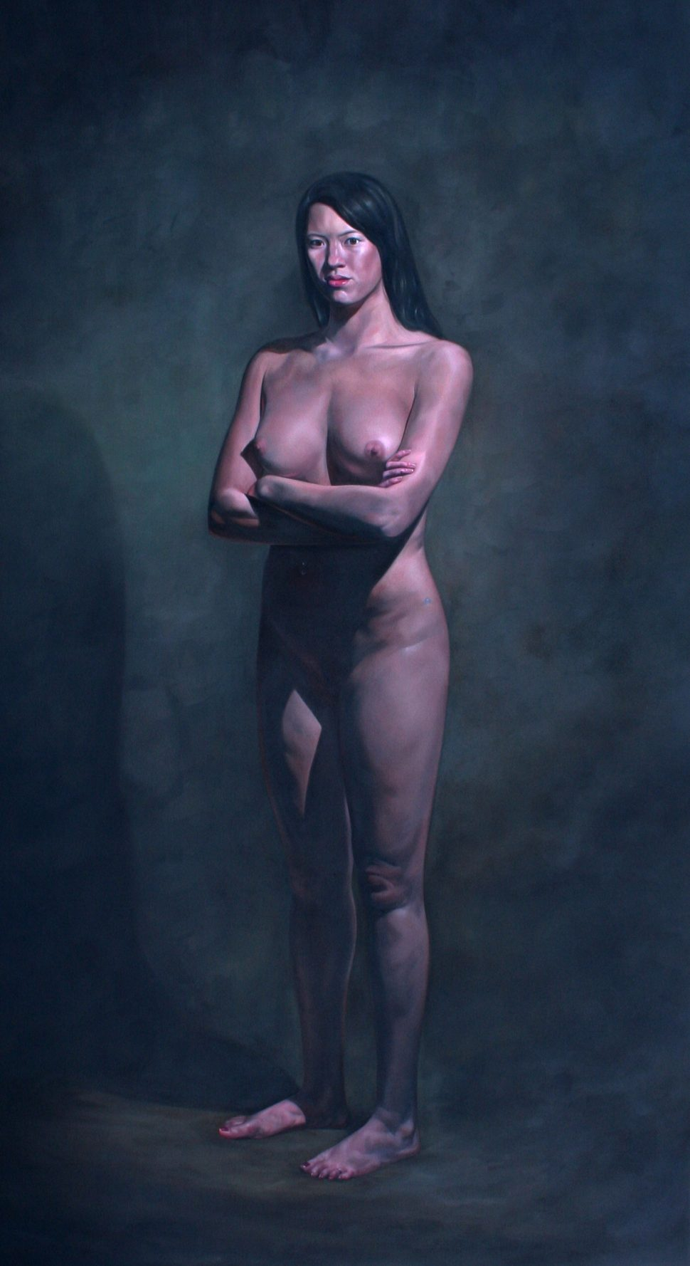 Standing Nude, painting by British painter Nicholas C Williams. Held in the collection of the Frissaris Museum, Athens.